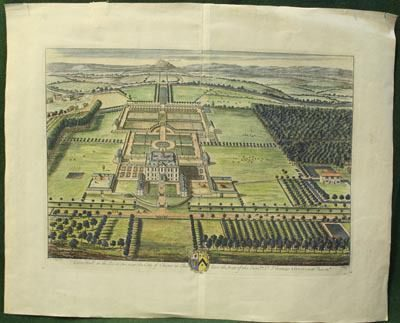 Johannes Kip. Eaton Hall on the River Dee near the City of Chester in Cheshire: the Seat of the Hon-ble Sr. Thomas Grosvenor Baron-tt. Лондон. 1707.